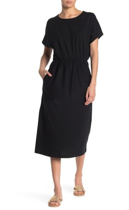MelloDay Dolman Sleeve Elastic Waist Dress