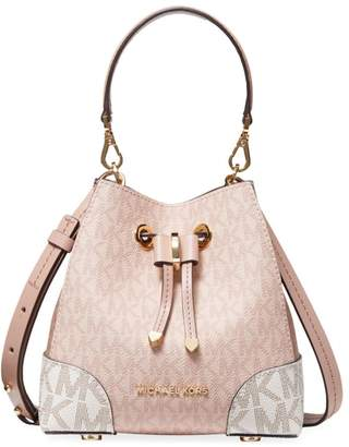 Michael Kors Mercer Gallery Extra-Small Convertible Leather Bucket Crossbody Bag