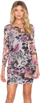 Lucca Couture Floral Mesh Longsleeve Bodycon Dress