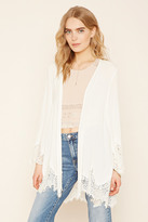 Forever 21 FOREVER 21+ Contemporary Crepe Cardigan