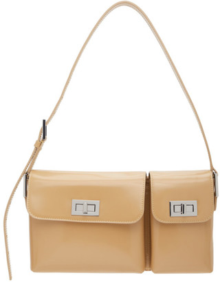 BY FAR Beige Patent Billy Bag