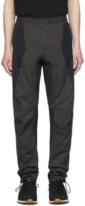 Bottega Veneta Grey and Navy Moto Trousers