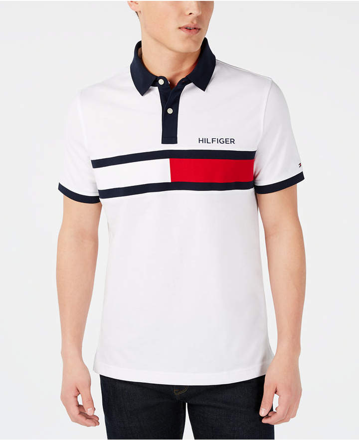 4868bbcd Tommy Hilfiger White Men's Polos - ShopStyle