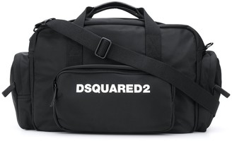DSQUARED2 Logo Printed Holdall Bag