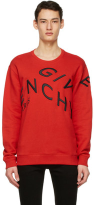 Givenchy Red Big Embroidered Refracted Sweatshirt