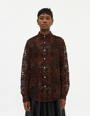 Hope Women's Air Clean Lace Shirt in Golden Brown, Size 42
