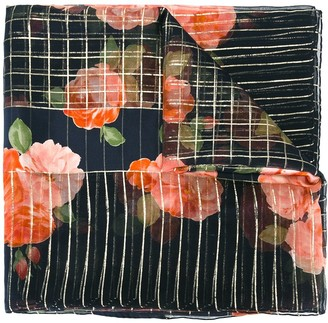 Yves Saint Laurent Pre-Owned Floral Print Scarf