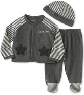 Calvin Klein Baby Boys' 3-Pc. Hat, Jacket & Footed Pants Set