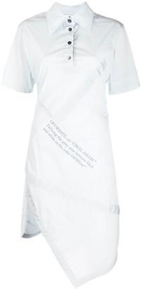 Off-White Asymmetric Shirt Dress