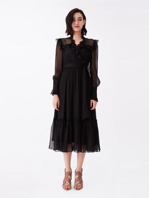Diane von Furstenberg Meredith Silk-Chiffon Midi Dress