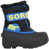 Sorel Logo Nylon Canvas Snow Boots
