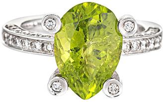 Non Branded 18K 3.10 Ct. Tw. Diamond Peridot Ring