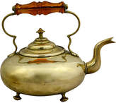 One Kings Lane Vintage Brass Teakettle with Amber Glass Handle