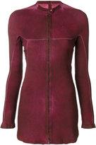 Isaac Sellam Experience - stitched panel jacket - women - Lamb Skin - 36