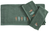 Hiend Accents 3-Piece Embroidered Cactus Towel Set, Turquoise