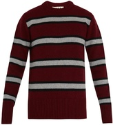 Marni Striped crew-neck wool sweater