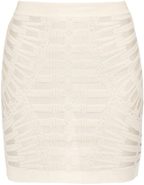 Balmain Spine intarsia-knit mini skirt