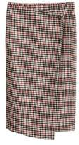 Mango MANGO Check wrap skirt