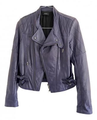 Joseph Blue Leather Jackets