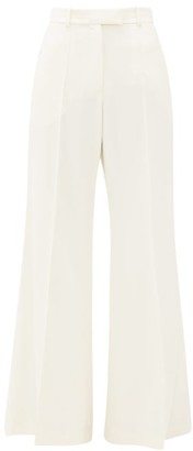 Racil Lincoln Flared Wool-twill Trousers - Womens - Ivory