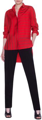 Akris Punto Kodak-Striped Button-Front Blouse
