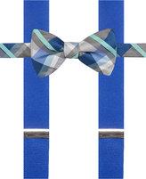 Alfani Spectrum Men's Asbury Plaid Pre-Tied Bow Tie and Suspender Set