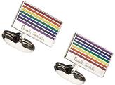 Paul Smith Rainbow Stripe Cufflinks, Multi