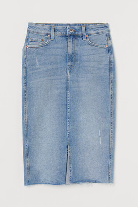 H&M Denim Pencil Skirt - Blue