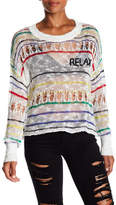 Wildfox Couture Relax Distressed Sweater