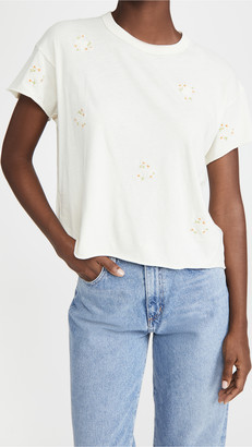 The Great The Crop Tee with Daisy Bouquet Embroidery