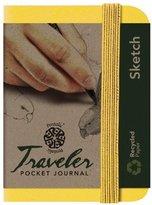 Pentalic Art Traveler Pocket Journal Sketch Book, 3-Inch by 4-Inch