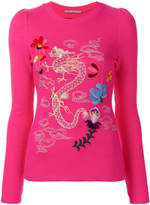 Ermanno Scervino embroidered fitted top