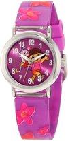 Nickelodeon Kids' DTE1064B Dora the Explorer Giftable Backpack Bracelets Watch Set