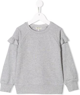 Kenzo Kids Ruffle Sleeve Sweatshirt