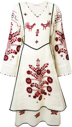 Vita Kin Embroidered Bohemian-Style Midi Dress