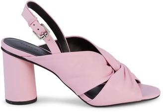 Rebecca Minkoff Agata Leather Knot Slingback Sandals