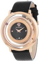Versace Women's VFH030013 Venus Round Stainless Steel Red Genuine Topaz Quartz Watch