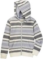 Lucky Brand Striped Full Zip Hoodie (Big Boys)