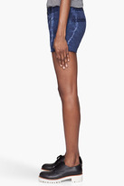Current/Elliott Blue mottled The Smart Low Rise shorts
