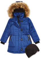 Hawke & Co Britney Hooded Parka with Faux-Fur Trim & Hat, Big Girls