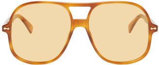 Gucci Tortoiseshell Acetate Aviator Sunglasses