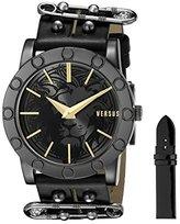 Versus By Versace Women's SF7060014 Miami Analog Display Quartz Black Watch