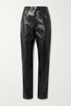 Isabel Marant Xenia Leather Tapered Pants - Black