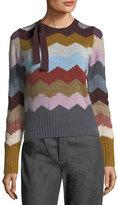 Marc Jacobs Chevron Knit Cashmere Sweater