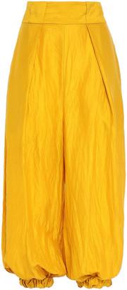 Kitx Crinkled Silk -twill Wide-leg Pants