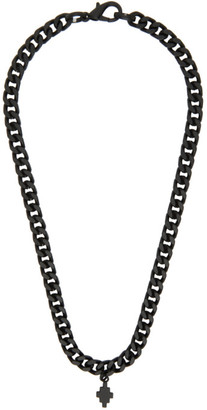 Marcelo Burlon County of Milan Black Cross Chain Necklace