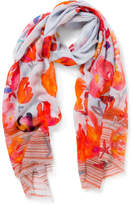 D Lux Pisces Wool/Silk Digital Print Scarf