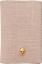 Alexander McQueen Pink and Gold Skull Pocket Organizer