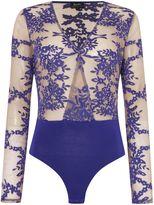 Bardot Long Sleeved Printed Body Top