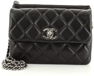 Chanel Daily Zippy Crossbody Bag Quilted Lambskin Small